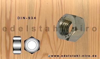 sechskantmutter m16 din934 aus a4 edelstahl aisi316 hnlich iso 4032. Black Bedroom Furniture Sets. Home Design Ideas