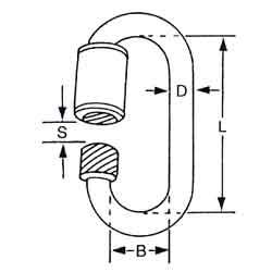 A4 Spannschloss Öse//Öse 5mm aus Edelstahl AISI 316